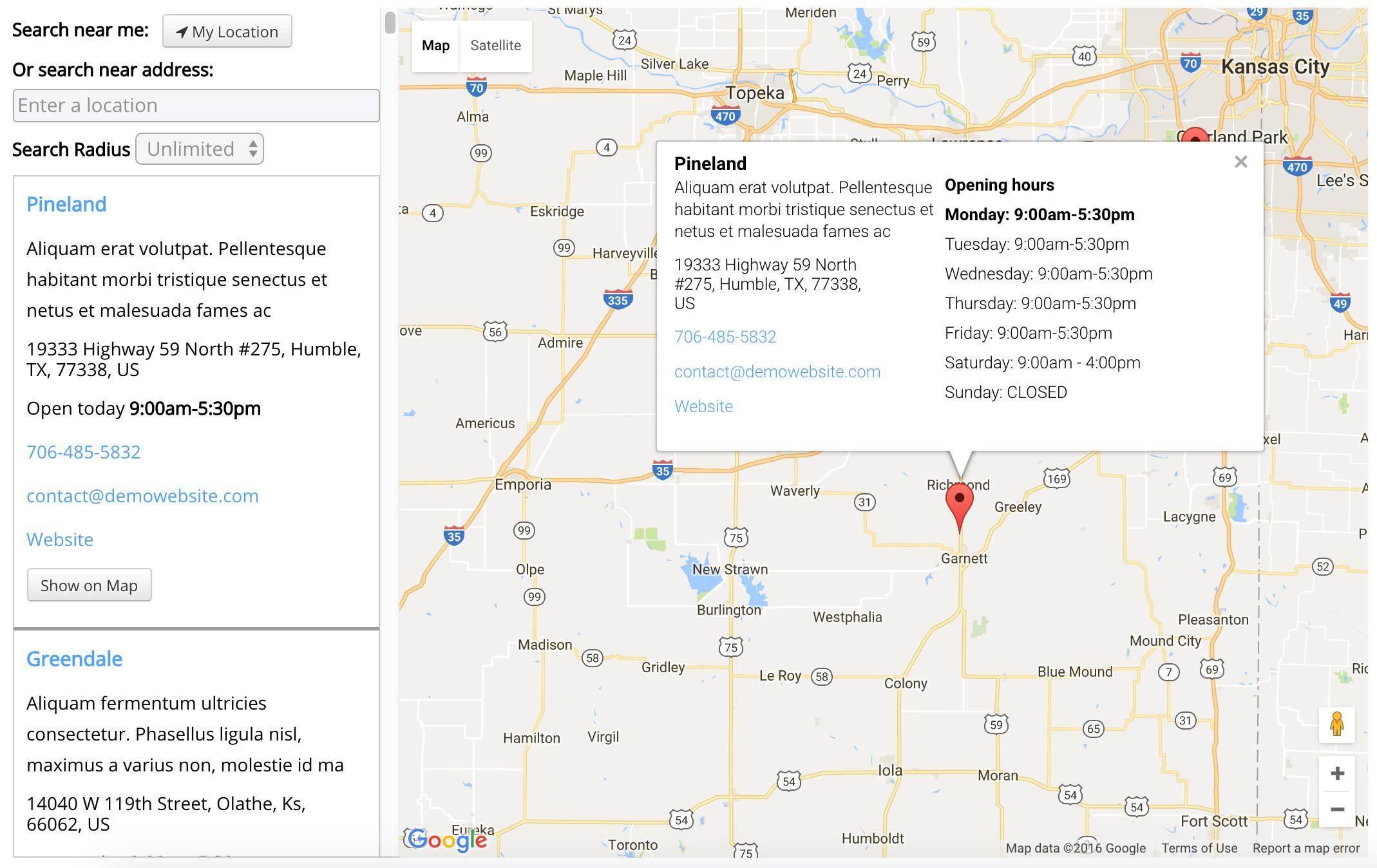 Sales Territory Locator
